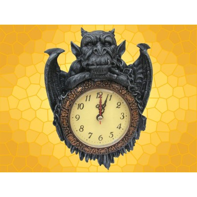 Horloge Figurine Gargouille Montre Murale Gothique Médiévale Fantasy Gargouilles