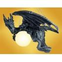 Lampe Dragon Lustre à Suspendre avec Chaînes Dragons Mobilier Fantasy Gothique