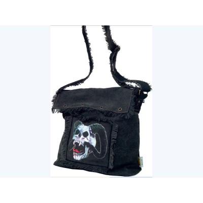 Sac Crâne de Démon Cartable Gothique à Bandoulière Fantasy Crânes Gothique Diable