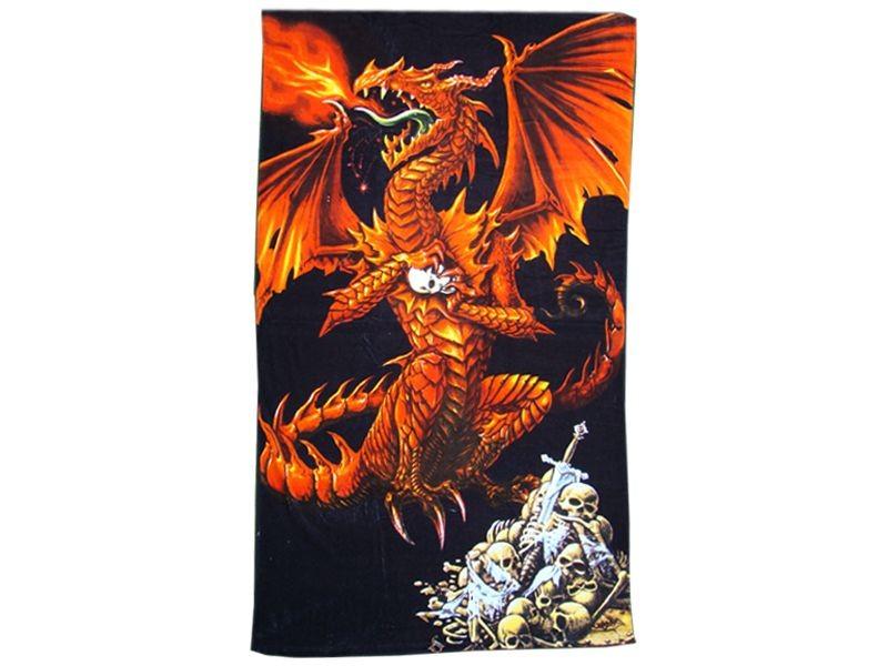 drap de bain dragon fury alchemy gothic serviette de plage fantasy gothique anticae. Black Bedroom Furniture Sets. Home Design Ideas
