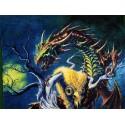 Drap de Bain Forest Dragon Alchemy Gothic Serviette de Plage Fantasy Dragons Guerrier