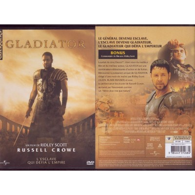 GLADIATOR DVD Film De Ridley Scott Russel Crowe Ray Winstone Angelina JOLIE