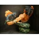 Conan le Conquérant Buste Combat avec Monstre Dragon Serpent par Jeffrey Scott