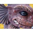 Jeune Dragon Rouge Buste Dragons Fantasy Animaux Légendaires