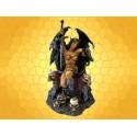 Statuette Barbare Succube Guerrière Démone Figurine Fantasy Trône et Crânes :    Statuette Barbare Succube Guerrière Démone Figurine Fantasy Trône et CrânesDRA312.   Superbe créature assise sur son trône...