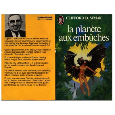 La Planète aux Embuches Roman Science Fiction Heroic Fantasy de Clifford D. SIDMAK