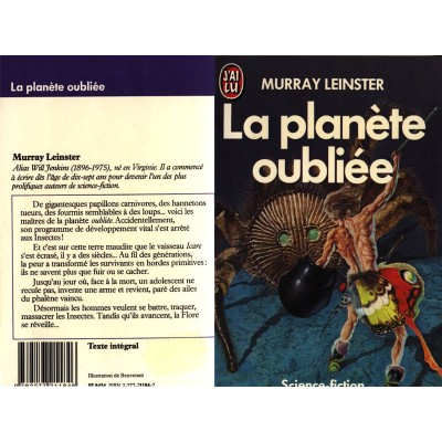 La planète oubliée Roman Science Fiction Fantasy de Murray LEINSTER