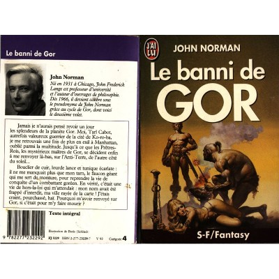 Le Banni de GOR Roman Heroic Fantasy Barbares de John NORMAN