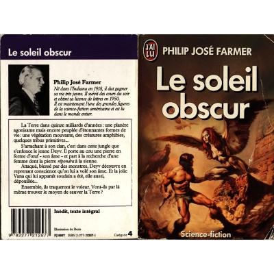 Le Soleil Obscur Roman Science Fiction Fantasy de Philip José FARMER
