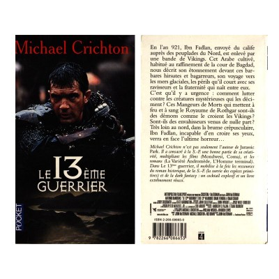 Le Treizième Guerrier Le 13 ieme Guerrier Roman Vikings Fantasy de Michael Crichton