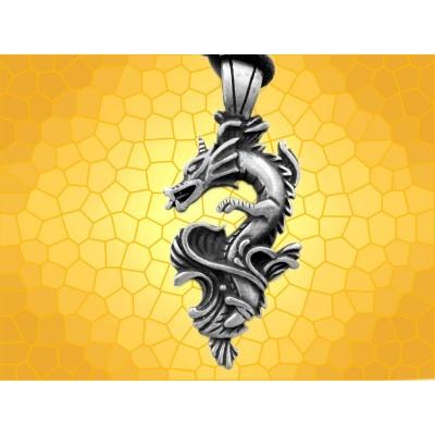 Pendentif Elemental WATER Dragon Bijou Dragons Primordiaux Fantasy Eau