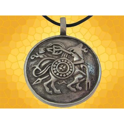 Pendentif Créature Bijou Viking Bouclier Collier Scandinave Vikings La Bête
