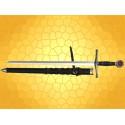 Épée de TEMPLIER avec Fourreau et Ceinture Cuir Répliques Épées Templières