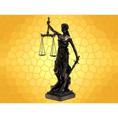 Statuette Antiquité LA JUSTICE Mythologie Romaine Antique Divinité Déese Rome
