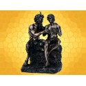 Statuette Antiquité PAN et DAPHNIS Légende Grèce Antique Mythologie