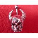 Piercing de Nombril Crâne Démon Cornu Gothique Acier Chirurgical
