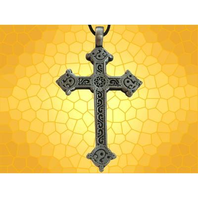 Pendentif Religieux Croix Bijou Croix Celte Dentelée Symbolique Médiévale