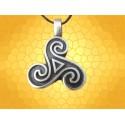 Pendentif Triskelle Celtique Croix Triskell Bijou Légende Celte