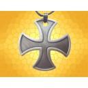 Pendentif Templier Croix Templière Bijou Médiéval Finition Argent Antique
