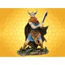 Figurine Viking Guerrier Barbare Statuette Antique Combattant Nordique Épée