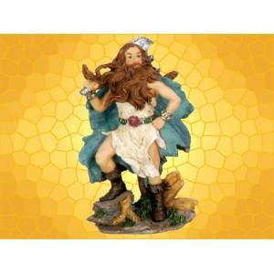 Figurine Guerrier Viking Guerrier Nordique Barbare à la Hache