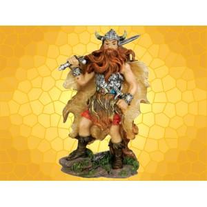 Figurine Guerrier Viking Guerrier Nordique Barbare et Épée