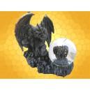 Boule Verre Gargouille Statuette Figurine Gothique Boules à Neige Décoration Fantasy