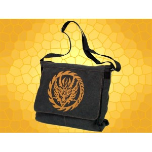 Sac Dragon Besace Dragons Stylisé Cartable Gothique Fantasy