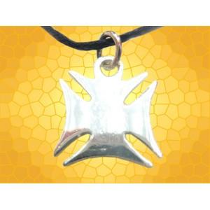 Pendentif Templier Croix Templière Pattée Arrondie Argent Vif Bijou Médiéval Moyen Age