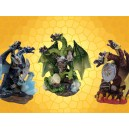 Lot des 3 Dragons Tricéphales Couleur Hydres Cuirassés Dragons Guerriers :    Lot des 3 Dragons Tricéphales Couleur Hydres Cuirassés Dragons Guerriers DRA360120