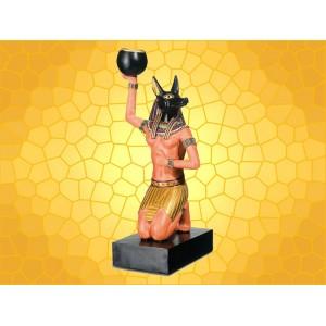 Bougeoir Égypte Antique Anubis Dieu Chacal Couleur Porte Bougie Égyptien Antiquité Peplum