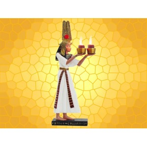 Bougeoir Double Égypte Antique Prêtre Égyptien Couleur  Bougeoirs Mythologie Antiquité Pharaon