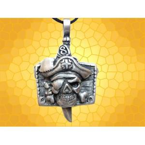 Pendentif Crâne Sabre et tête Pirate Bijou Gothique Crânes Squelette Fantasy