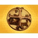 Pin Croix Cathare dorée Pins Chrétien Croisades