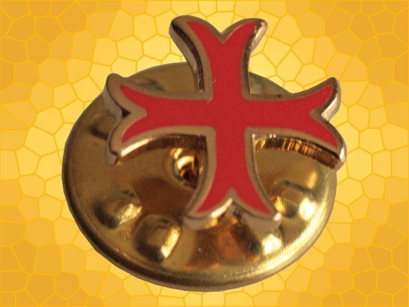 Pin Croix Templiers Rouge étroite Pins Chrétien Croisades - Anticae 85fa9db04586