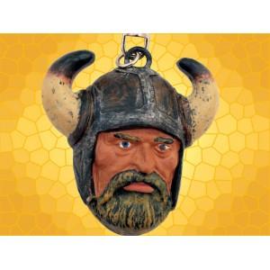 Porte-Clefs Viking Porte Clés Fantasy Guerrier Nordique Casque à Cornes