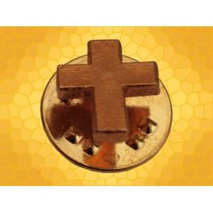 Pin's Croix Chrétienne Catholique Pin Crucifix Chrétien Finition Or