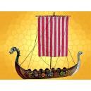 Miniature Bateau Antique Drakkar Viking Navire de Guerre Antiquité