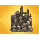 Château Fort et 12 Crânes Monde des Crânes Présentoir Figurines Skull World