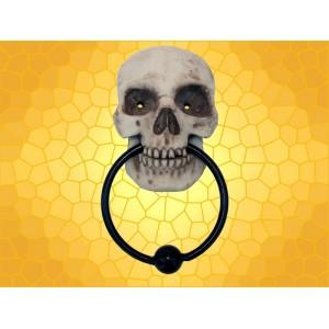 Heurtoir Crâne Marteau de Porte Gothique Résine et Métal