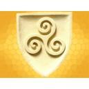 Blason Celtique Triskell Triskèle Plaque Murale Celte Pierre Reconstituée