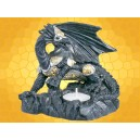 Bougeoir Dragon Guerrier en Armure Fantasy Gothique Bougeoirs Dragons