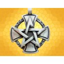 Pendentif Templier Croix Templière et Pentagramme Bijou Massif Moyen Age
