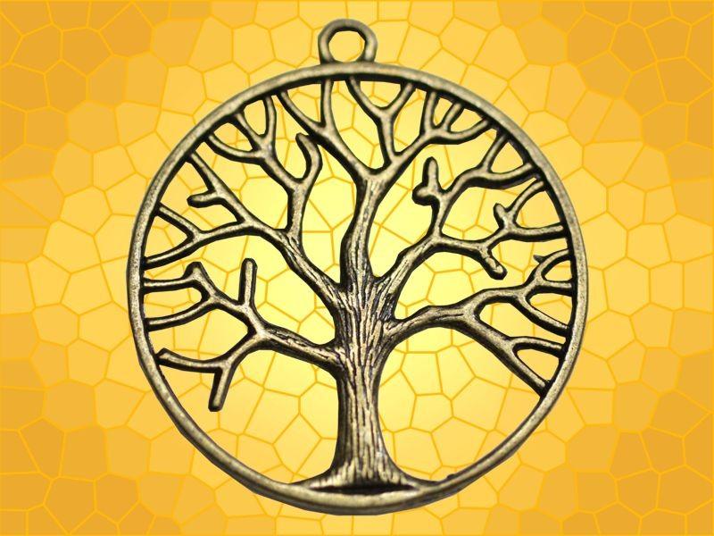 pendentif bronze arbre de vie rond bijou celtique symbole celte anticae. Black Bedroom Furniture Sets. Home Design Ideas