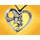 Pendentif Cœur Fée Amoureuse Collier Féerie Fantasy