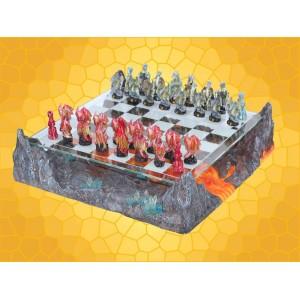 Échiquier Dragon Jeu d'échecs Rivière de Lave et Cristaux Jeux Société Dragons