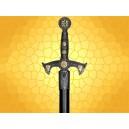 Épée Moyen Age Templière Arme Médiévale Commander du Temple avec Fourreau