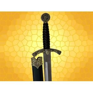 Dague Templiere Aigle et Cheval avec Fourreau Mini Épée Moyen Age Médiévale