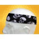 Bandana Gothique Bandeau à Cheveux Gros Crânes Blancs