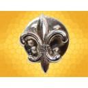 Pin's Argenté Fleur de Lys France Moyen Age Pin Symbolique ME2876